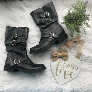 Matisse Moto-X Black Leather Half Calf Boots 6.5